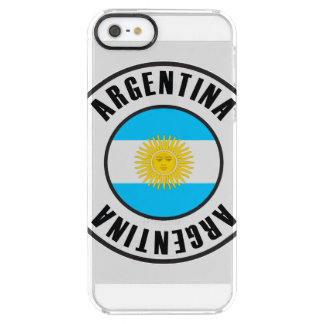 Argentina Flag Simple Dark Clear iPhone SE/5/5s Case