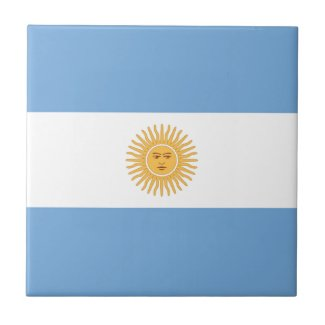 Argentina Flag Small Square Tile