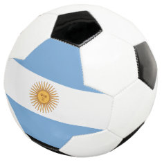 Argentina Flag Soccer Ball at Zazzle