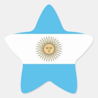 Argentina flag star stickers