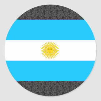 Argentina Flag Round Sticker