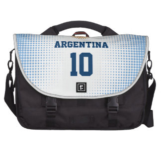 Argentina Flag Sun of May - Custom Player Number Commuter Bag
