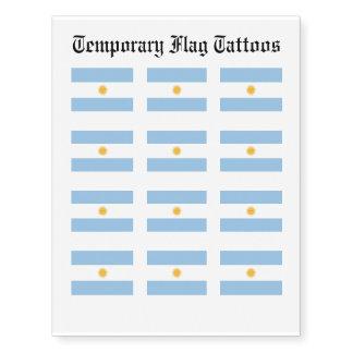 Argentina Flag Temporary Tattoos