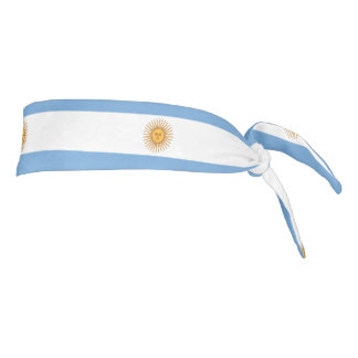 Argentina Flag tie-back athletic head band Tie Headband