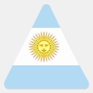 Argentina Flag Triangle Sticker