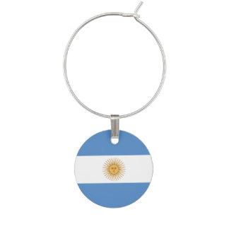 Argentina Flag Wine Glass Charm
