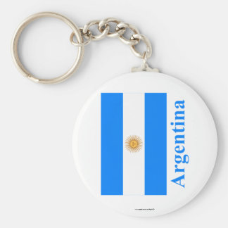 Argentina Flag with Name Keychain