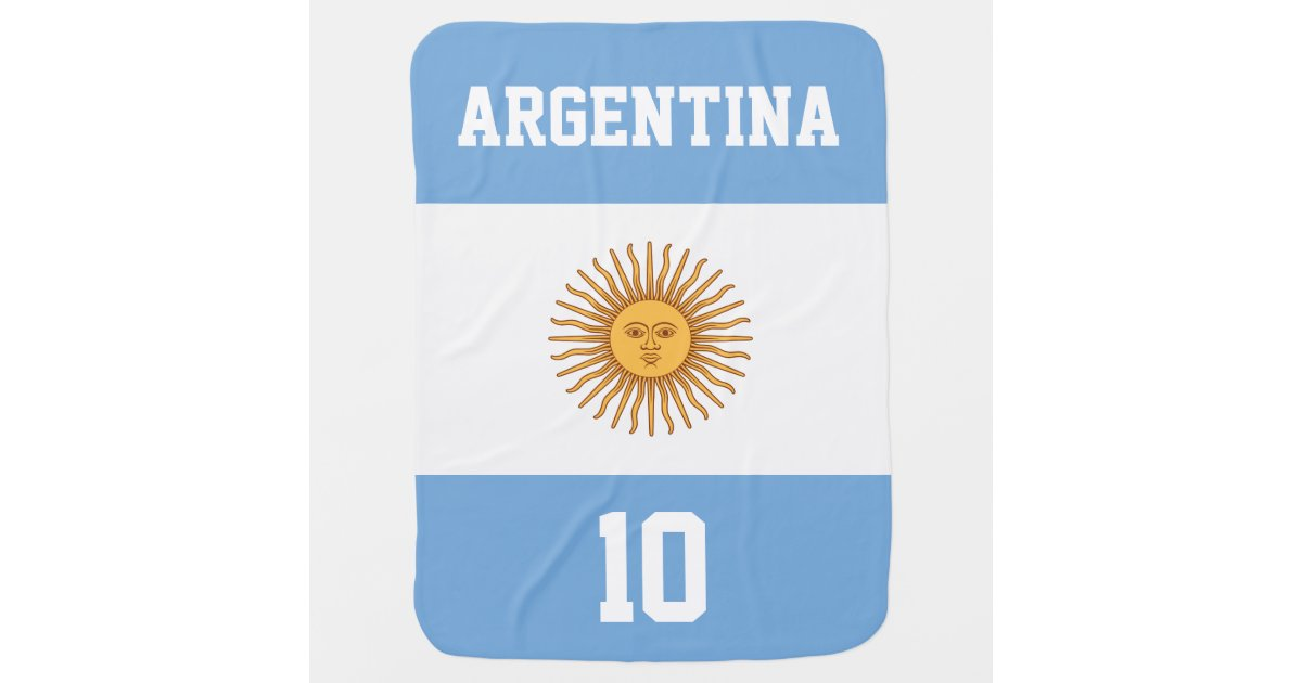 Argentina Flag with Your Baby Name and Number Swaddle ...