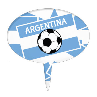 Argentina Football Cake Topper