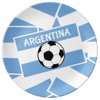 Argentina Football Dinner Plate