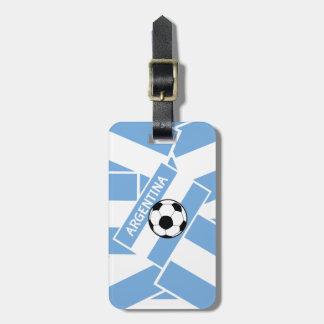 Argentina Football Luggage Tag