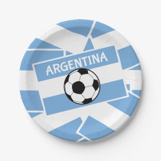 Argentina Football Paper Plate