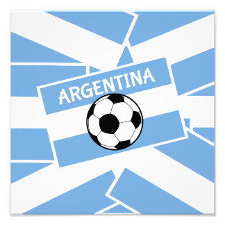 Argentina Football Photo Print