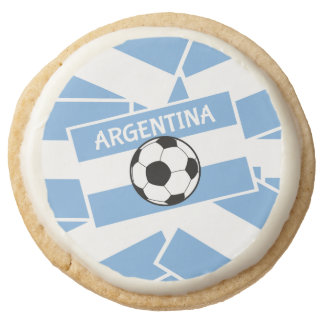 Argentina Football Round Shortbread Cookie