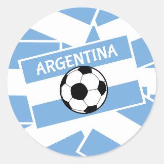 Argentina Football Classic Round Sticker
