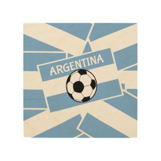 Argentina Football Wood Wall Art