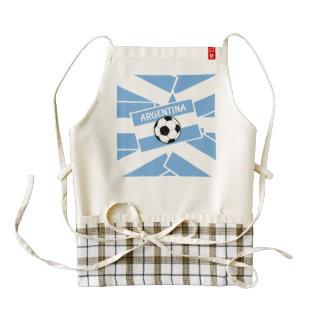 Argentina Football Zazzle HEART Apron