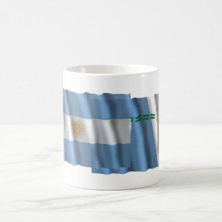Argentina & Formosa waving flags Classic White Coffee Mug