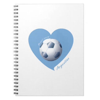 ARGENTINA Fútbol Corazón de Campeones Brasil 2014 Libros De Apuntes Con Espiral