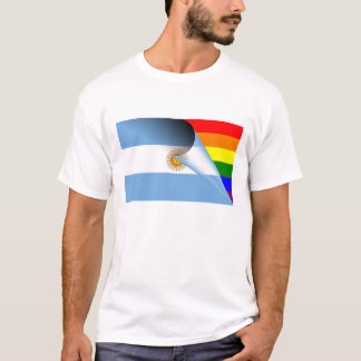 Argentina Gay Pride Rainbow Flag T-Shirt