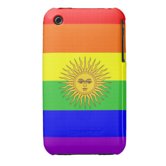 argentina gay proud rainbow flag homosexual iPhone 3 Case-Mate cases