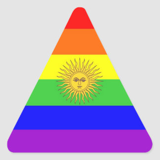 argentina gay proud rainbow flag homosexual triangle sticker