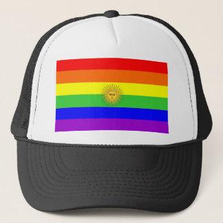 argentina gay proud rainbow flag homosexual trucker hat