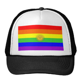 argentina gay proud rainbow flag homosexual trucker hat