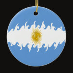 Argentina Gnarly Flag Ceramic Ornament