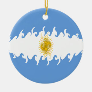 Argentina Gnarly Flag Ceramic Ornament