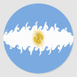 Argentina Gnarly Flag Classic Round Sticker