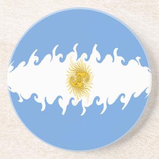Argentina Gnarly Flag Drink Coaster
