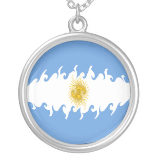 Argentina Gnarly Flag Personalized Necklace