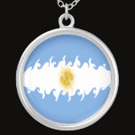 Argentina Gnarly Flag Silver Plated Necklace
