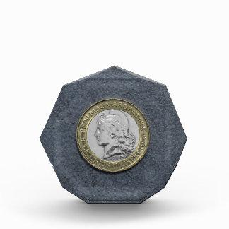 Argentina Gold Silver Vintage Coin Octagonal Award