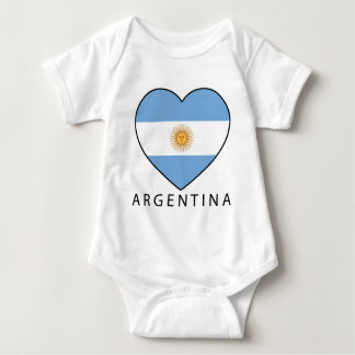 Argentina Heart Flag Soccer Mameluco De Bebé