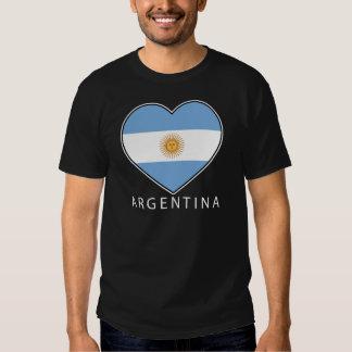 Argentina Heart Flag Soccer Playeras