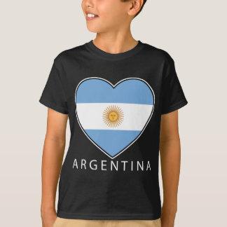 Argentina Heart flag Soccer T-Shirt