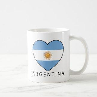 Argentina Heart Flag Soccer Taza Clásica