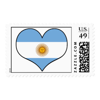 Argentina Heart Postage Stamps