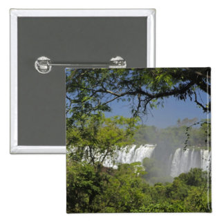 Argentina, Iguacu Falls in sun. 2 Button