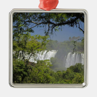 Argentina, Iguacu Falls in sun. 2 Metal Ornament