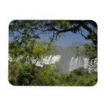 Argentina, Iguacu Falls in sun. 2 Rectangle Magnets