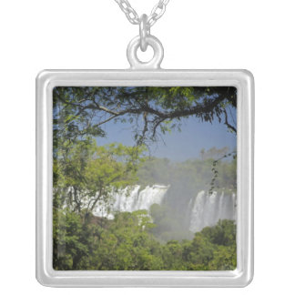 Argentina, Iguacu Falls in sun. 2 Silver Plated Necklace