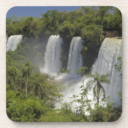 Argentina, Iguacu Falls in sun. Beverage Coaster