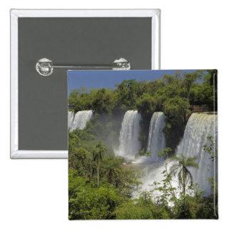 Argentina, Iguacu Falls in sun. 2 Inch Square Button