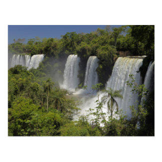 Argentina, Iguacu Falls in sun. Postcard