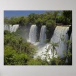 Argentina, Iguacu Falls in sun. Poster