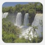 Argentina, Iguacu Falls in sun. Square Sticker