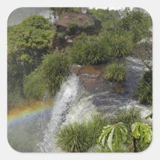 Argentina, Iguacu Falls. Rainbow at Iguacu Stickers